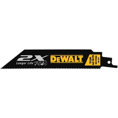 DEWALT DWA4186 6-Inch 14/18TPI 2X Max Metal Reciprocating Saw Blade (5-Pack)