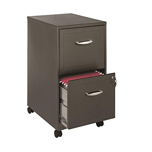 Hirsh 18'' Deep 2 Drawer File Cabinet in Metallic Charcoal by Hirsh Industries
