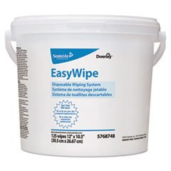 Diversey EasyWipe Disposable Wiping System - Pair with Oxivir Disinfectants, 125 Wipes (6 Pack)
