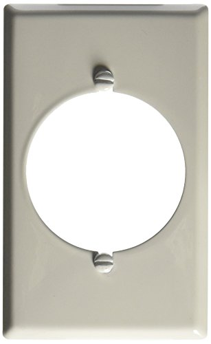Dryer Wall Plate - Morris 83482 Painted Steel Wall Plate, Range/Dryer, 1 Gang, White