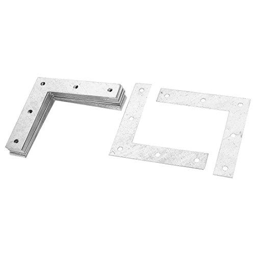 Furniture 90mmx90mm L Shape Flat Plate Corner Brace Bracket 20Pcs by uxcell