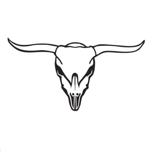 - Bull Skull Vinyl Decal Window Sticker Graphic Auto Wall Laptop Steer Horns Truck, Die Cut Vinyl Decal for Windows, Cars, Trucks, Tool Boxes, laptops, MacBook - virtually Any Hard, Smooth Surface