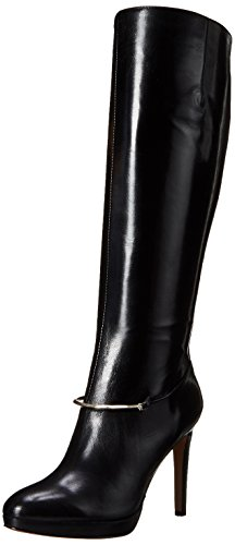 Image of Nine West Women's Pearson-Wide Leather Knee High Boot, Black, 7.5 M US