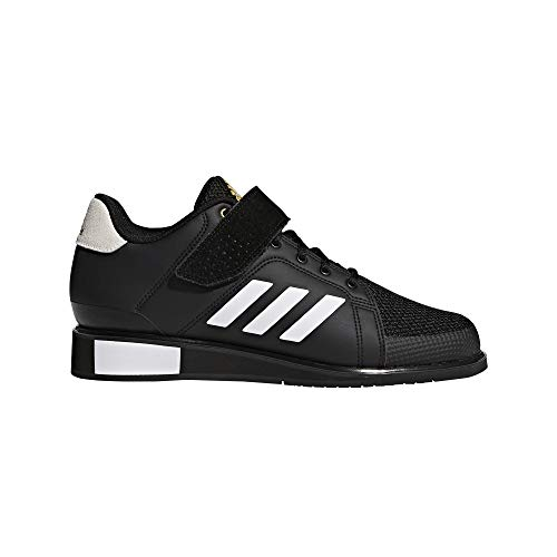 adidas Men's Power Perfect III. Cross Trainer Black/White/Matte Gold, 5 M US