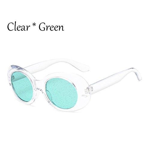 Solar C6 Tonos TIANLIANG04 De Lentes G469 Brillantes Oval Mujer Señoras Gafas Colors C7 Protección Candy Clear Gafas Green De La Sol Claro CrnqHxCOwZ
