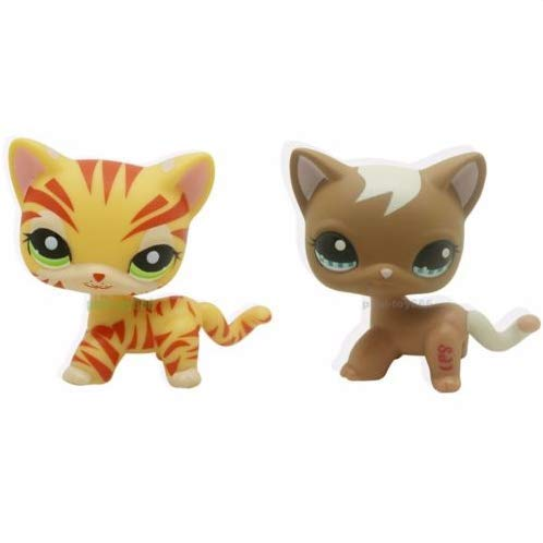 - Pet Shops 2pcs Littlest Rare Cream & Yellow Orange Cat Green Eyes LPS #1451 #1170
