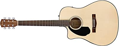Fender CD-60SCE Left Handed Acoustic-Electric Guitar - Dreadnaught Body Style - Natural Finish from Fender Musical Instruments Corp.