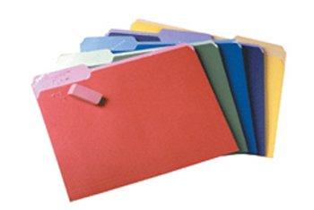 Pendaflex 84270 Assorted Colors Pendaflex File Folders W/Erasable Tabs 12 Ct