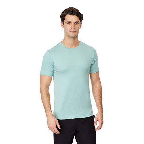 32 DEGREES Mens Cool Solid Crew Neck Tee Shirt, Pistachio Heather, Size XLarge ()
