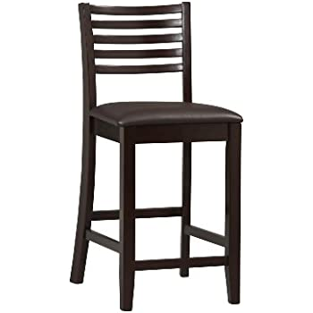 Amazon Com Linon Triena Collection Ladder Counter Stool