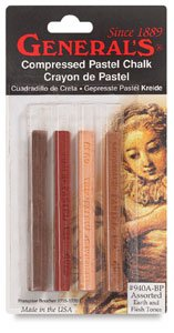 General's Compressed Pastel Chalk Sticks Earth Tones