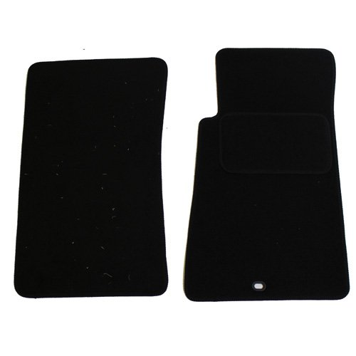 JVL Fully Tailored 4-Piece Car Mat Set with 6 Clips - Black 2317