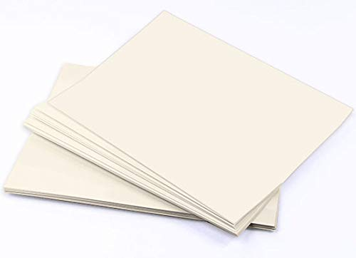 LCI Ecru Smooth Cardstock - 8 1/2 x 11, 100lb Cover, 250 Pack by LCI Paper