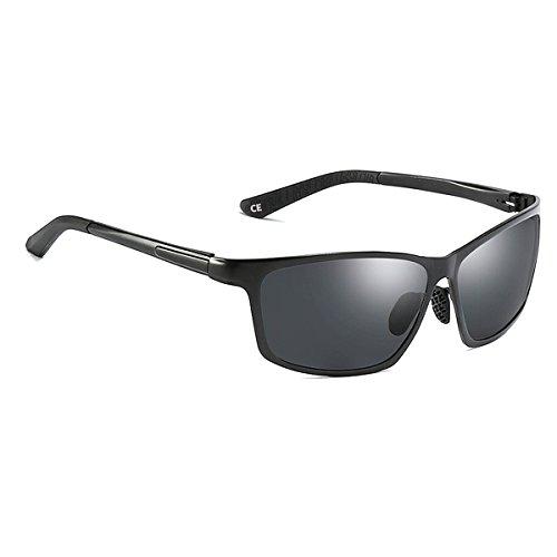 VeBrellen Lunettes Black Lens VS012 polarisées Grey UV400 soleil Lunettes Homme 100 anti Frame de Sport RgCRwpq4
