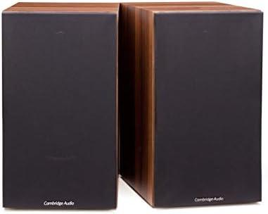 Cambridge Audio SX60 Bookshelf or Standmount Speaker 100 Watt Home Theater Speakers Pair Dark Walnut