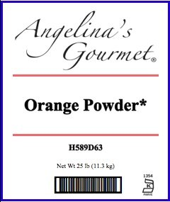 Orange Powder, 25 Lb Bag by Angelina's Gourmet (Image #1)