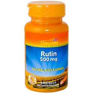 Thompson Rutin 500mg | Bioflavonoid and Antioxidant | Healthy Vascular System Support | Non-GMO & Vegan | Lab Verified | 60 Tablets