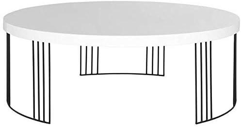 Safavieh Home Collection Keelin Mid-Century Modern White Coffee Table