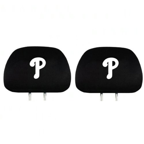 (MLB Philadelphia Phillies Head Rest Covers, 2-Pack)