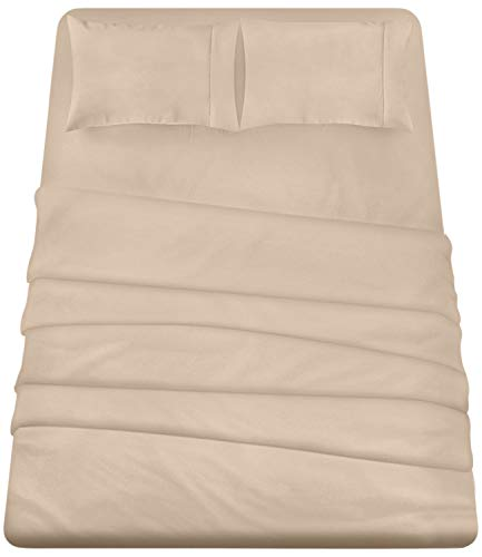 Utopia Bedding 4-Piece King Bed Sheets Set (Beige) (Bedding Set Tan)