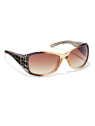 New York & Co. Women's Animal Printed Sunglasses 0 Amber - And Company Sunglasses New York