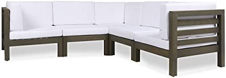 Great Deal Furniture Dawson Outdoor V-Shaped Sectional Sofa Set