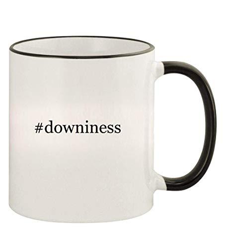 #downiness - 11oz Hashtag Colored Rim and Handle Coffee Mug, Black ()