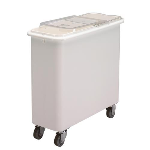 - Cambro IBSF27148 White Flat Top 27 Gal Ingredient Bin with Clear Lid