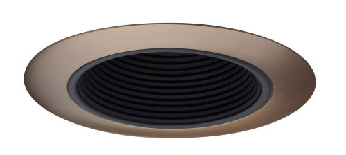 Baffle Deep Trim (Juno 434B-ABZ 3-Inch Deep Downlight Baffle Recessed Light Trim, Black Baffle with Classic Antique Bronze Trim Ring)