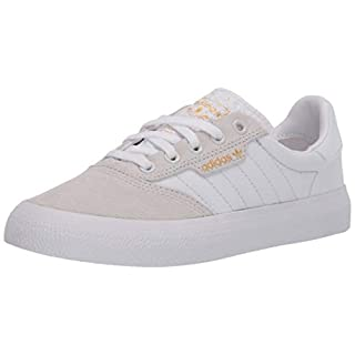 adidas Originals Men's 3MC Regular Fit Lifestyle Skate Inspired Sneakers Shoes, Crystal White/White/Gold Metallic,8