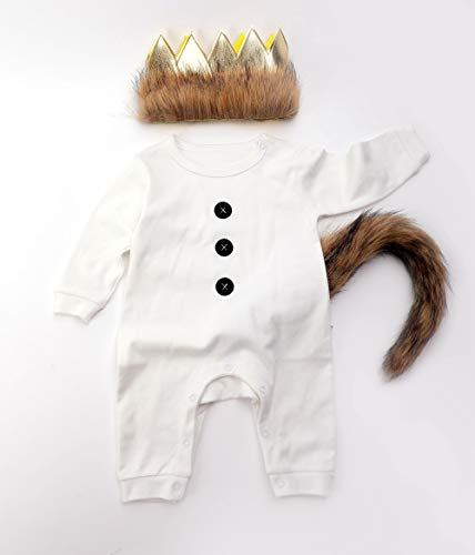 Where The Wild Things are Costume Wild One Birthday Boy Outfit Wild One Long Sleeve Romper Party White