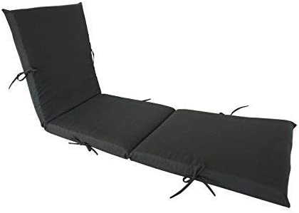 SewKer Indoor/Outdoor Patio Chaise Lounge Cushion Dark Blue Used Grey