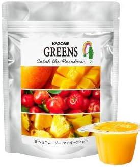 【カゴメグリーンズ】食べるスムージー マンゴーアセロラ 21gx6個 2袋セット