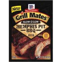 5 McCormick Grill Mates Memphis Pit BBQ Rub 2.25 Oz Exp 2/19