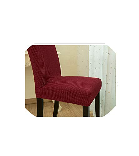 - Thick Fabric Colorful Universal Spandex Chair Cover Dining Slipcovers Office Computer Couverture Chaise Cubresillas,Burgundy,high Back 50 to 60cm