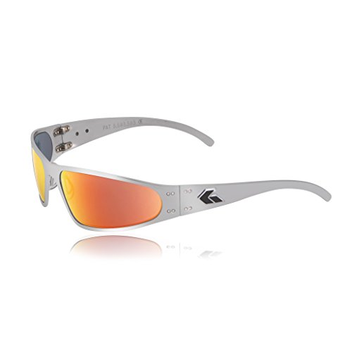 Case Sunburst - Gatorz Wraptor Aluminum Frame Sunglasses-Polish/Sunburst Mirror Lens