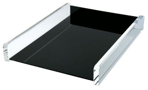 Wedo 608001 Acryl Briefablage (Acryl Exklusiv) glasklar/schwarz