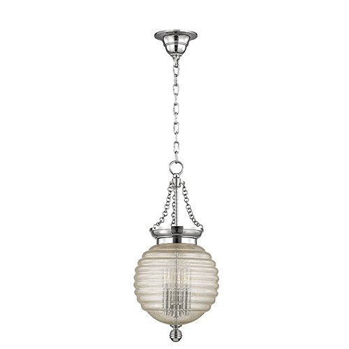 - Hudson Valley Lighting 3210-PN Three Light Pendant from the Coolidge collection 3, Polished Nickel