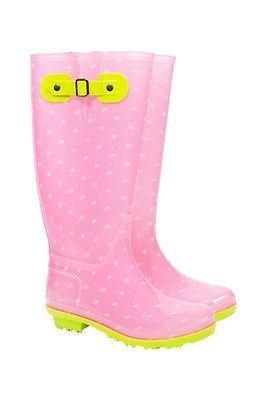 Briers Premium Pink Daisy Dot Wellington Boots. Funky Rain Boots size 5 NX9tztcjw