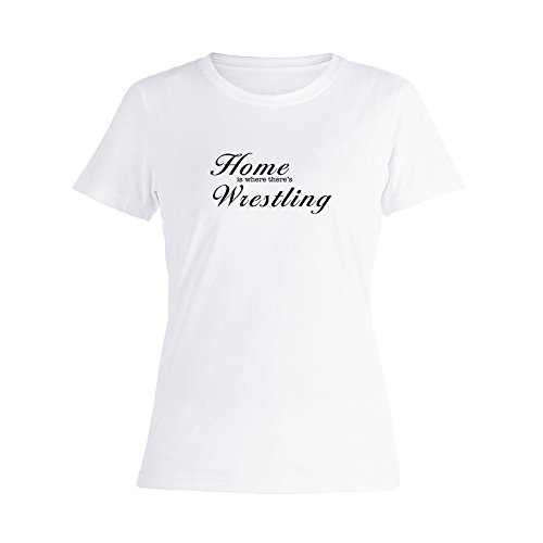 OKnown Funny is Where There's Wrestling Short Sleeve T Shirts for Womens by OKnown