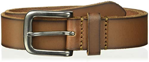 Timberland Boys' Big' Leather Belt for Kids, brown/classic, Large