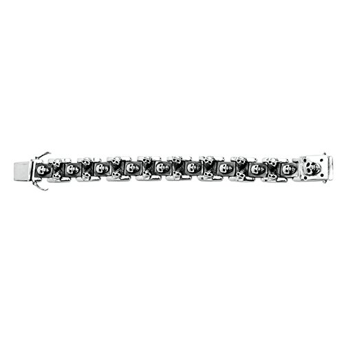Daesar 925 Silver Bracelet For Men Human Skeleton Bracelet Silver Chain Length:21CM by Daesar
