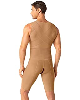 695a84f9527c5 Leo Men s Post-Surgical and Slimming Firm Compression Bodysuit Shaper