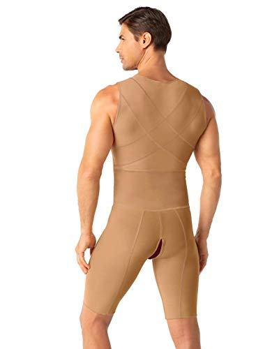 Leo Men's Post-Surgical and Slimming Firm Compression Bodysuit Shaper ()