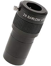 "H HILABEE Lente De 2 Pulgadas Barlow ED De Doble Pulido para Telescopio con Adaptador De 2""a 1.25"""