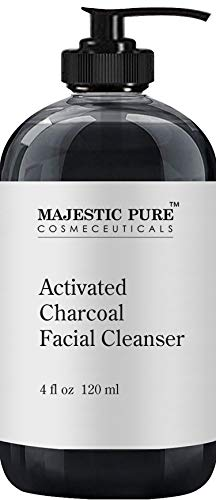 Charcoal Facial Cleanser by Majestic Pure - Detoxifying, Deep Pore Cleansing, and Revitalizing - Oily, Dry & Sensitive Skin Face Cleanser with Natural Ingredients, 4 fl ()