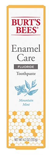 Burts Bees Toothpaste Enamel Care 4.7 Ounce Mountain Mint (3 Pack)