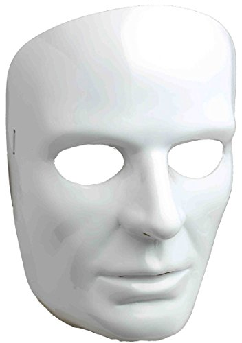 Forum Novelties 67838 Men's White Full Face Mask, One Size ()
