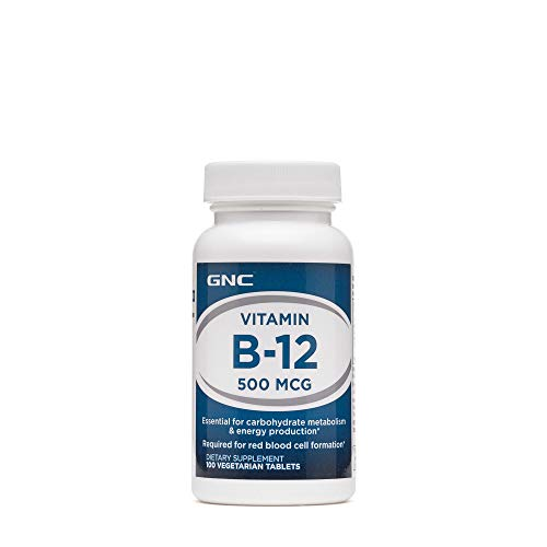 GNC Vitamin B-12 500mcg, 100 Tablets, Supports Carbohydrate Metabolism and Energy - Vitamins B-12 Gnc