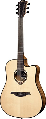 LAG T300DCE Stage Series Dreadnought Cutaway Acoustic-Electric Guitar -  Korg USA Inc., LGT3DCE